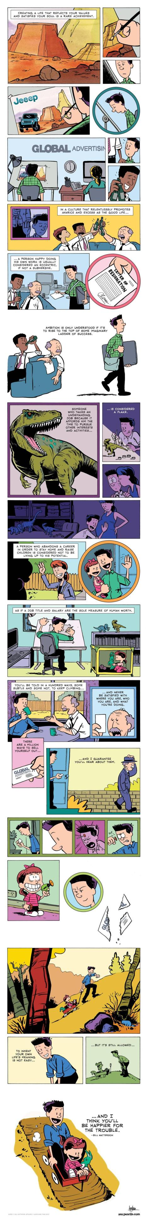 Creating a life by Bill Watterson