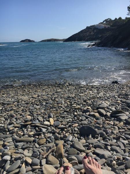 an isolated beach in Spain