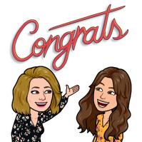 cartoon Amanda congratulates cartoon daughter
